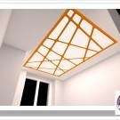 Эскиз светового потолка в жилом интерьере