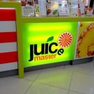 """Встроенный световой короб """"Juice master"""" ТЦ Радуга"""